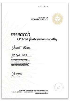 Research in Homeopathy
