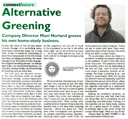 Alternative Greening - Click to read the article