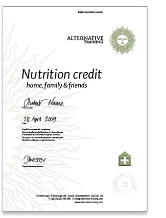 Nutrition credit
