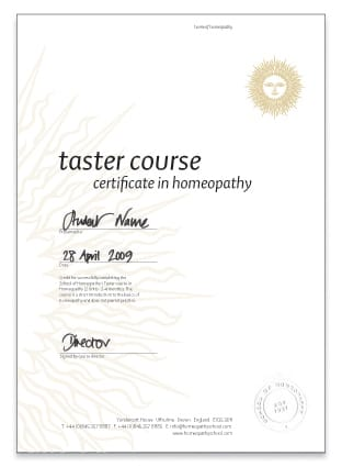 Taster Course Certificate