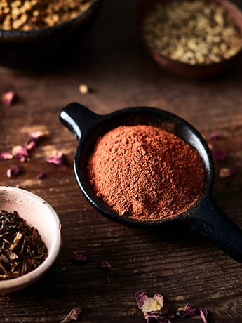 Ayurveda spices in small dish