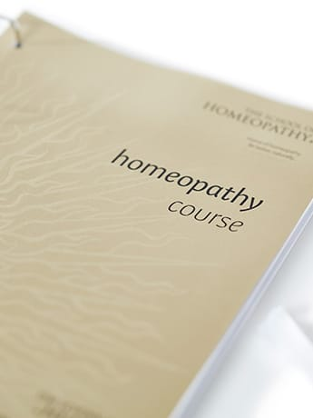Homeopathy course cover