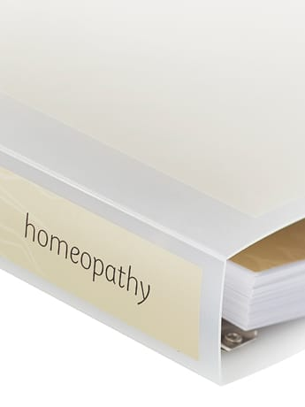 Homeopathy course folder spine
