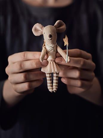 Homeopathy Toy mouse in hands