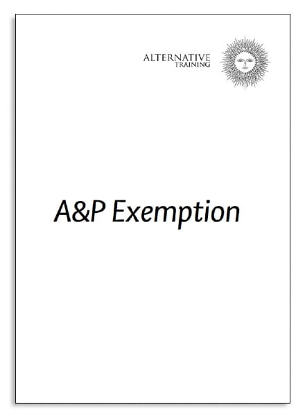 A&P Course Exemption Application - The School of Health