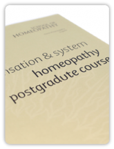 Homeopathy Sensation & System Postgraduate Course